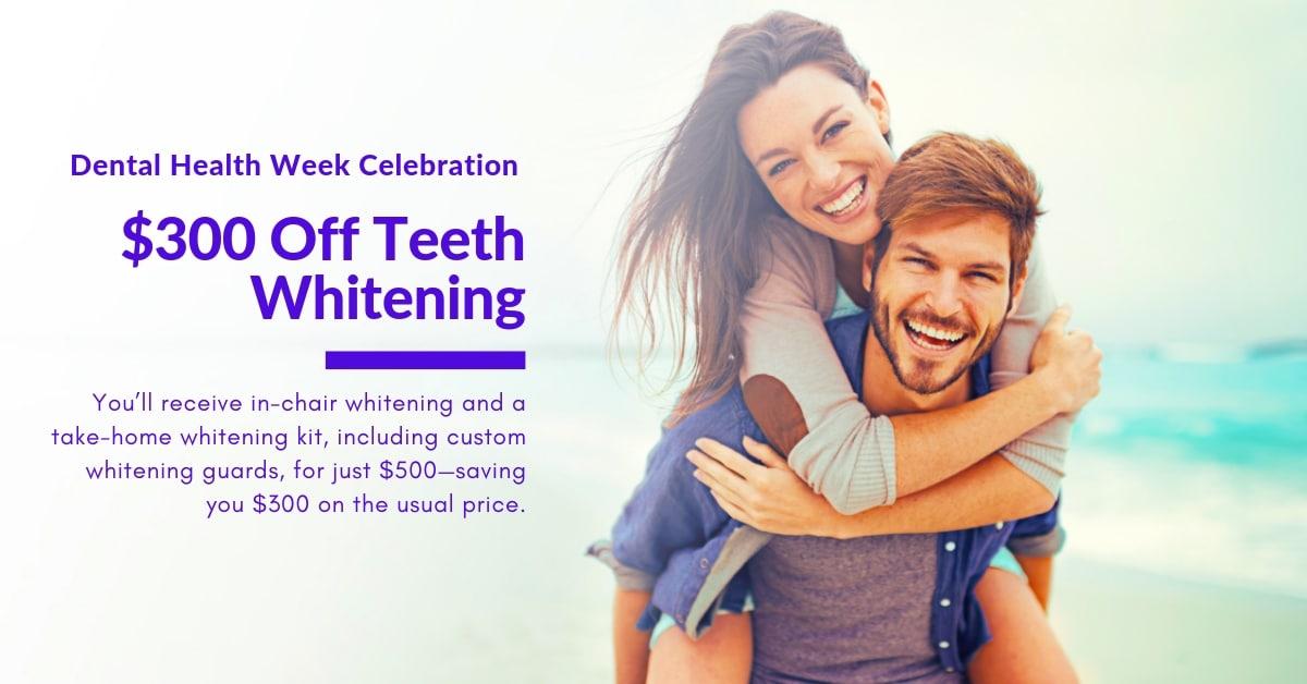 Teeth Whitening special during Dental Health Week