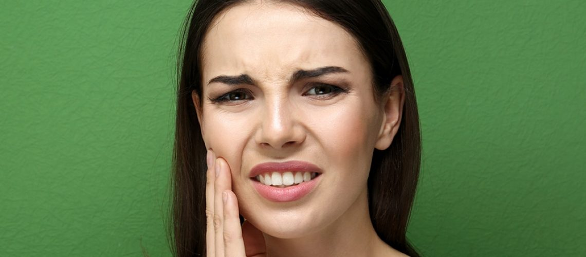 Teeth Grinding Woman Painful Jaw